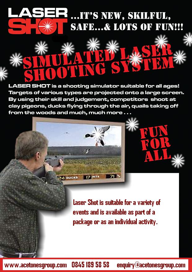 Laser Shot Shooting Simulator Hire Ace Tones Group