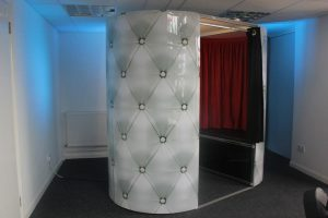 White Chesterfield Photo booth hire