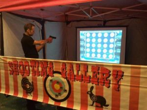 Indoor laser clay pigeon shooting