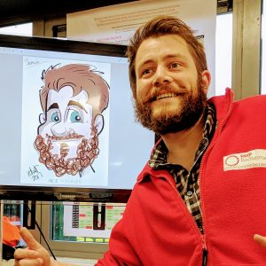 Ipad Caricaturist hire