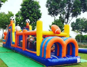 It's a knockout inflatable hire