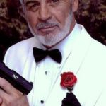 Sean Connery lookalike as James Bond at a themed party