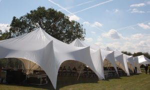 Modular marquee at corporate event