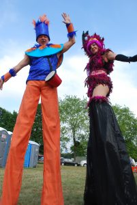 Stilt walkers for hire