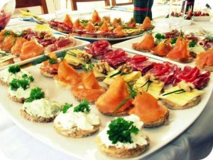 Corporate Event Catering - canape platter