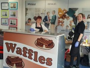 Treats for employees -Waffle bar-min