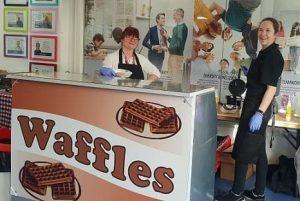Treats for employees - Waffle bar