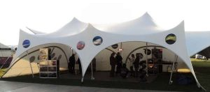 Personalised exhibition marquee