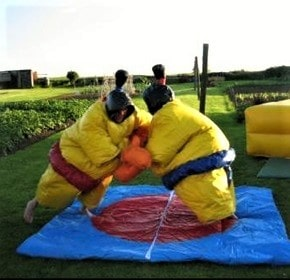 Inflatable Sumo suit hire, wrestling pad included